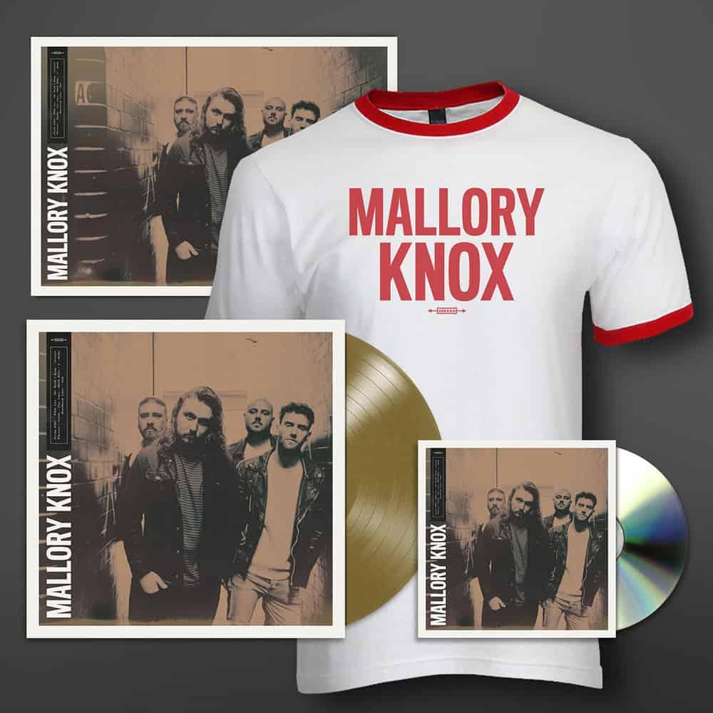 Buy Online Mallory Knox - Mallory Knox Aztec Gold Vinyl + CD + A3 Print (Signed) + T-Shirt
