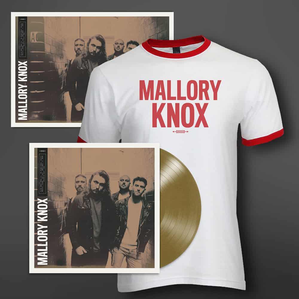 Buy Online Mallory Knox - Mallory Knox Aztec Gold Vinyl + A3 Print (Signed) + T-Shirt