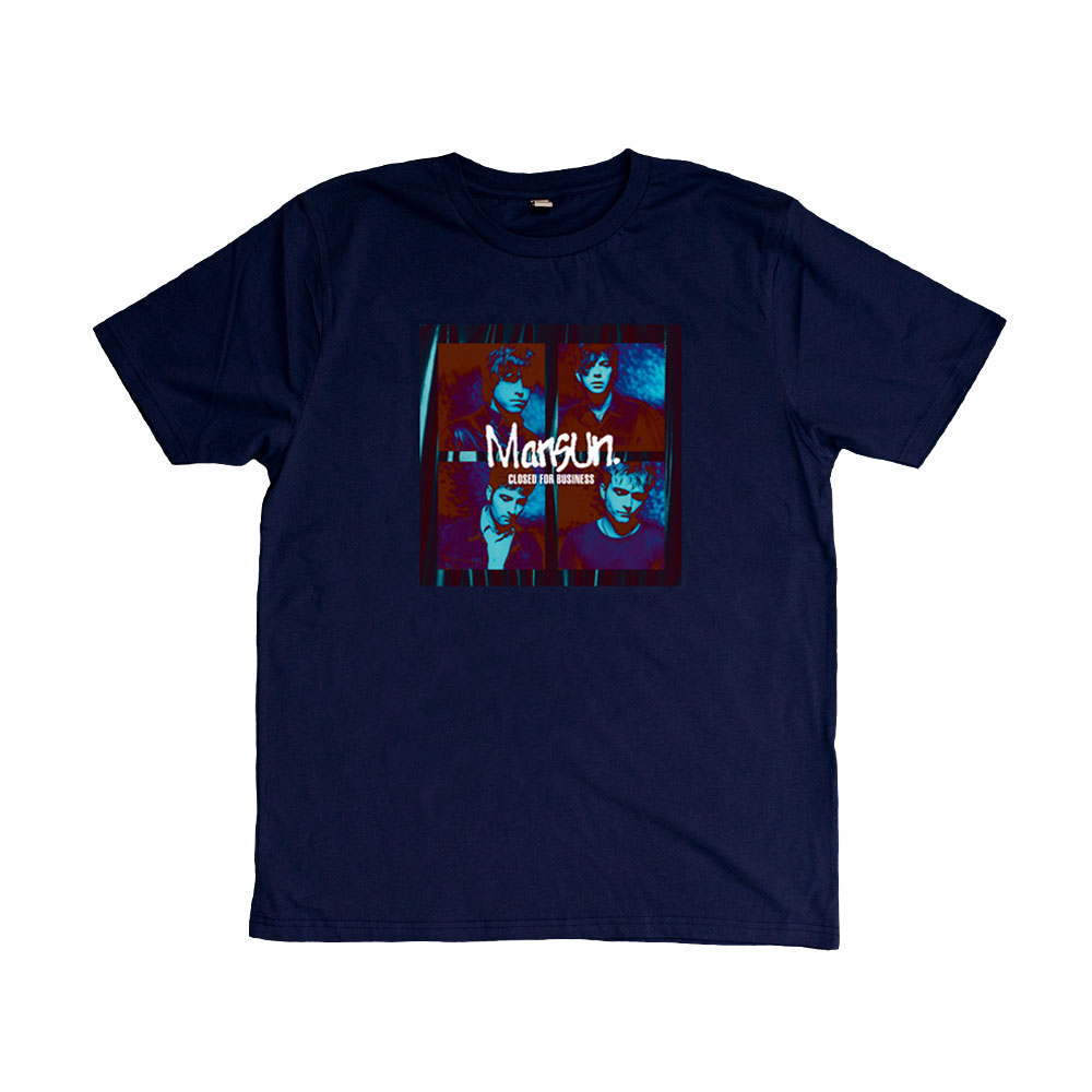 Buy Online Mansun - Closed For Business Very Limited Edition Navy T-Shirt