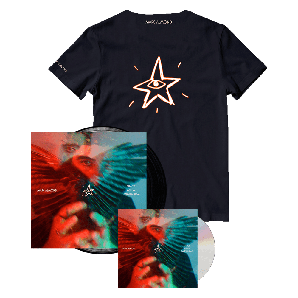 Buy Online Marc Almond - Chaos And A Dancing Star CD Album + Black Vinyl + T-Shirt