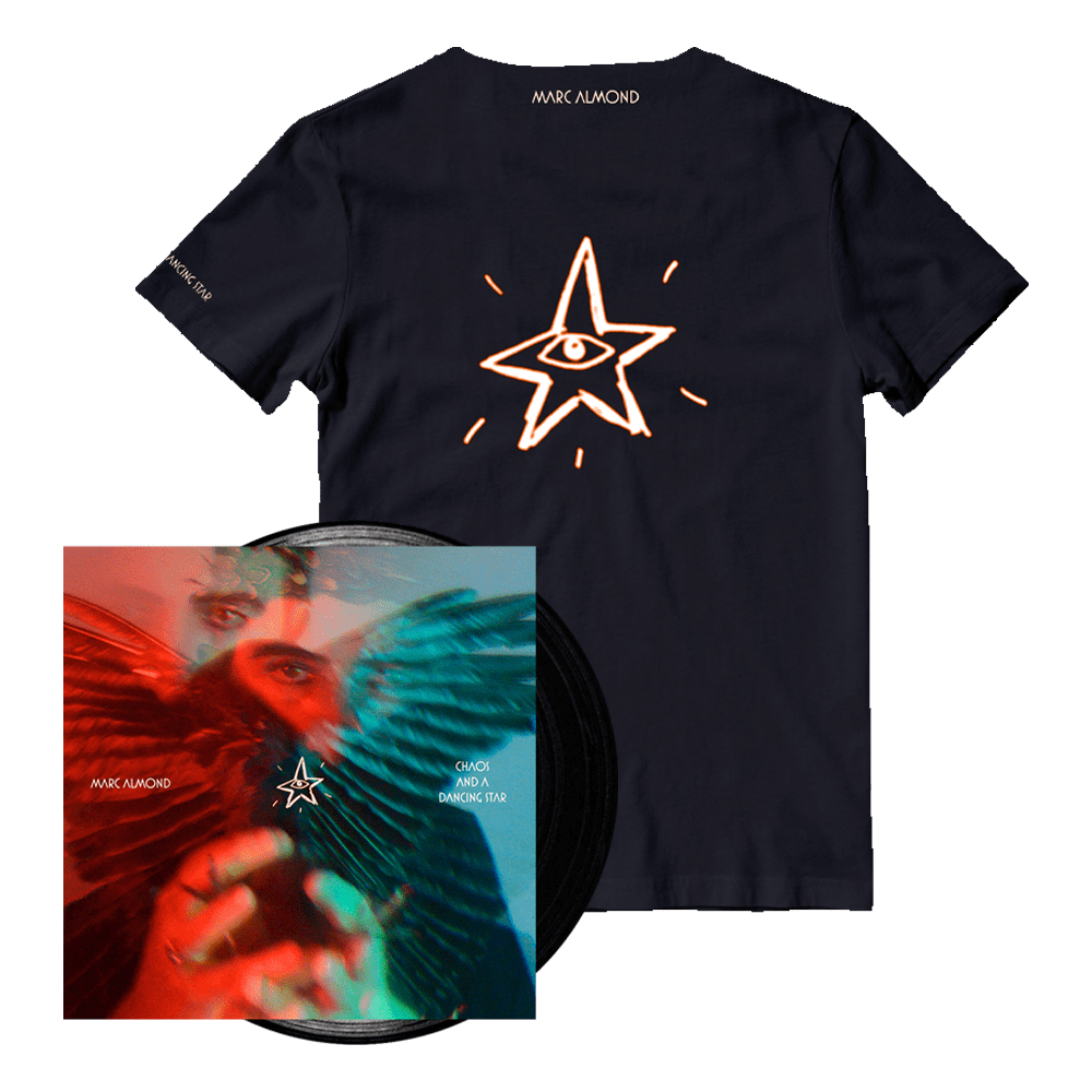 Buy Online Marc Almond - Chaos And A Dancing Star Black Vinyl + T-Shirt