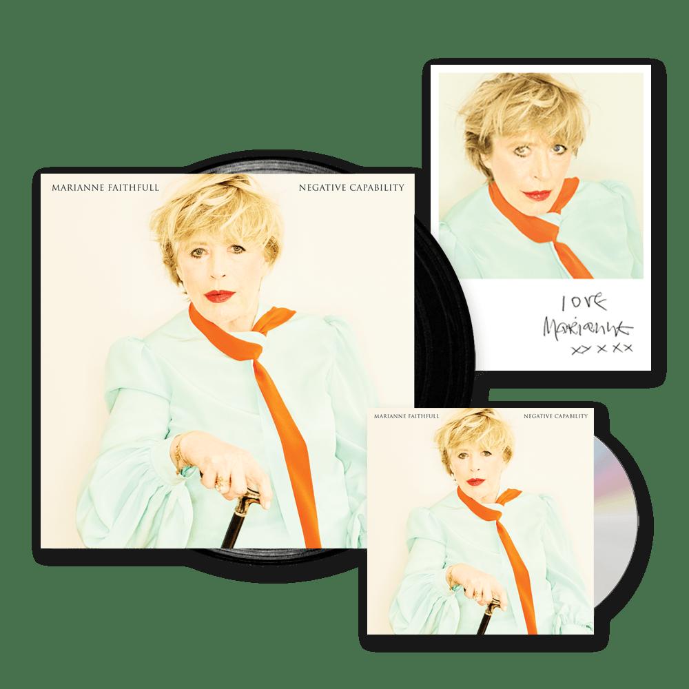 Buy Online Marianne Faithfull - Negative Capability Vinyl LP + Deluxe CD + Exclusive Print