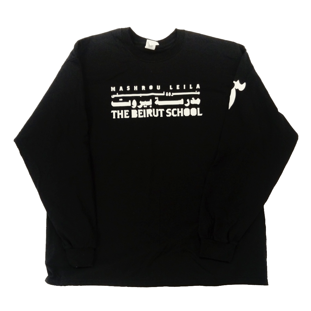 Buy Online Mashrou Leila - The Beirut School Black Long Sleeve T-Shirt