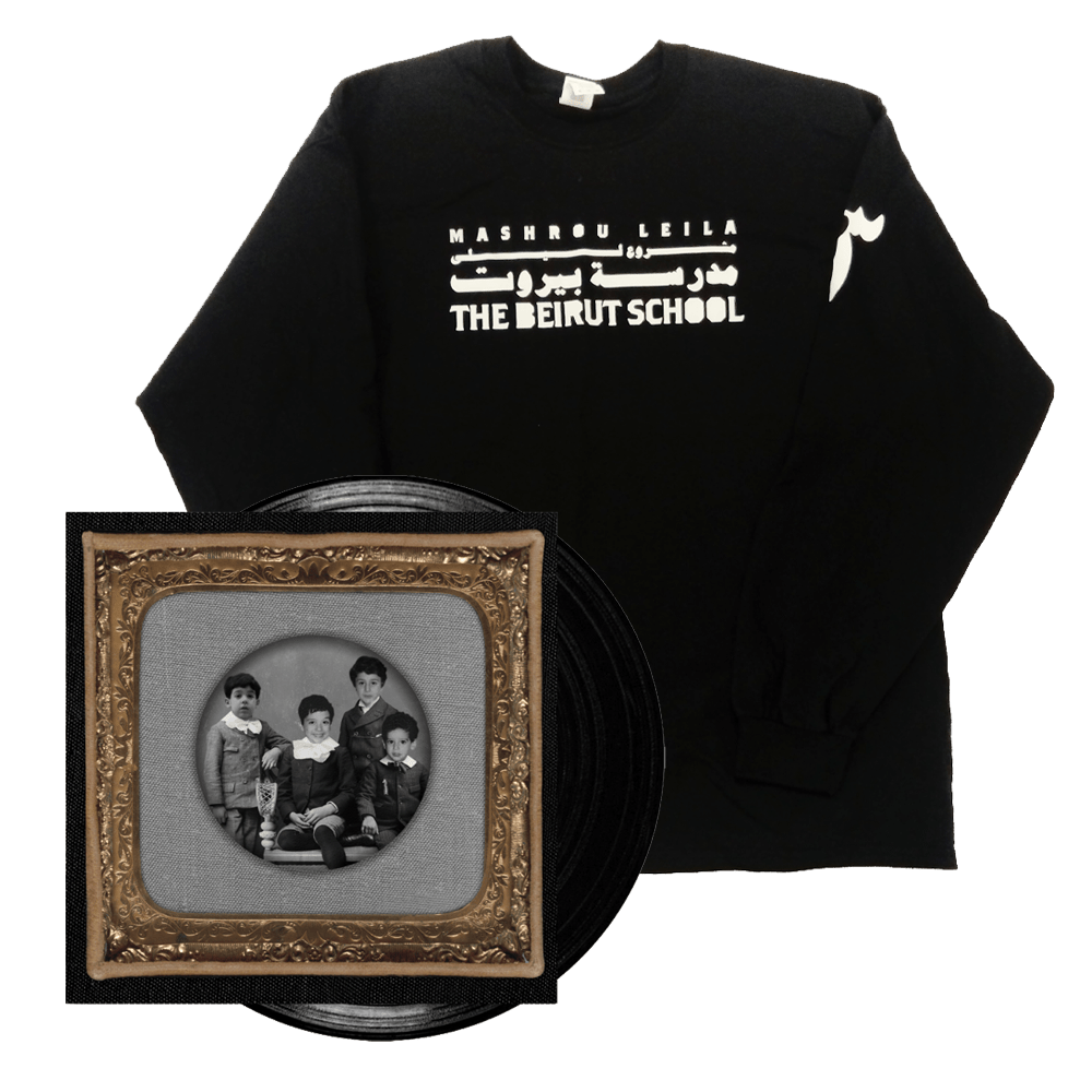 Buy Online Mashrou Leila - The Beirut School Vinyl + Long Sleeve T-Shirt
