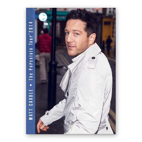 Buy Online Matt Cardle - 2014 Tour Programme