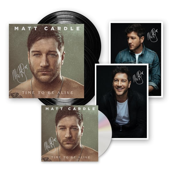 Buy Online Matt Cardle - Time To Be Alive CD (Signed) + Ltd Edition Gatefold Double Vinyl (Signed) + 2 x Exclusive Signed Photographs