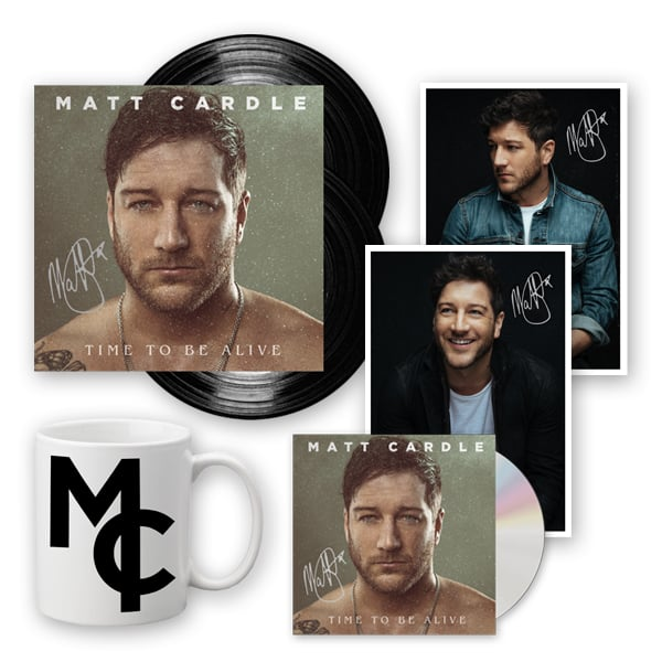 Buy Online Matt Cardle - Time To Be Alive CD (Signed) + Ltd Edition Gatefold Double Vinyl (Signed) + Mug + 2 x Exclusive Signed Photographs