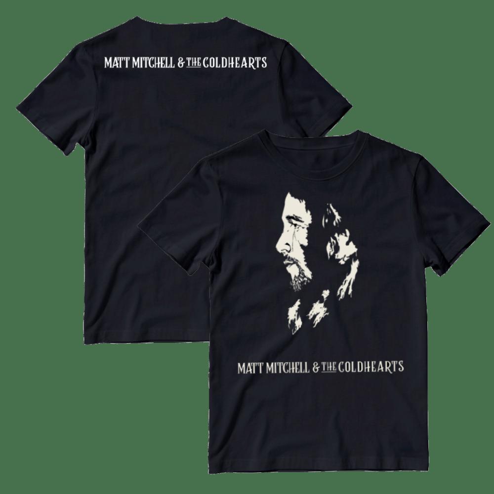Buy Online Matt Mitchell & The Coldhearts - Cream Artwork T-Shirt (Inc. Coaster)