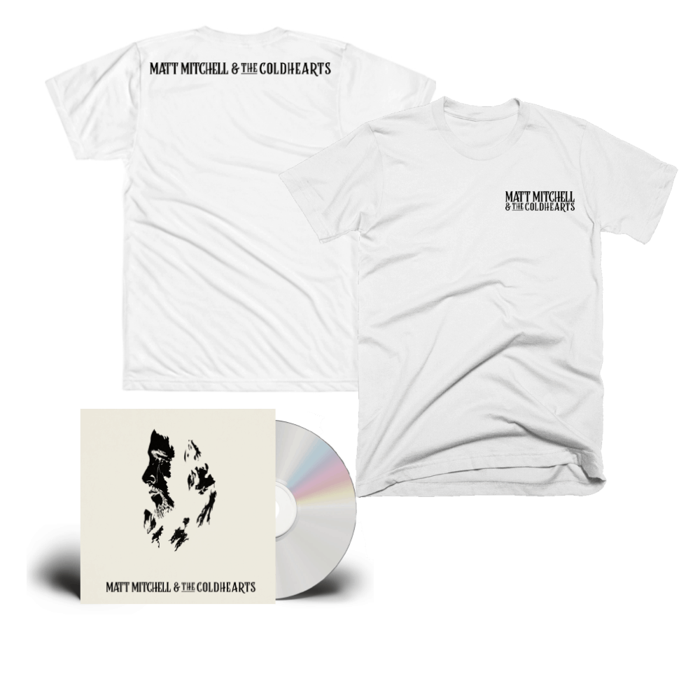 Buy Online Matt Mitchell & The Coldhearts - Matt Mitchell & The Coldhearts Special Edition CD + White Logo T-Shirt