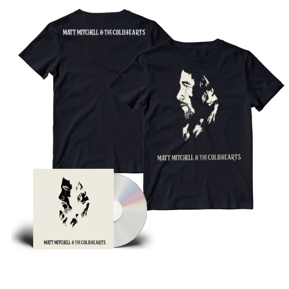 Buy Online Matt Mitchell & The Coldhearts - Matt Mitchell & The Coldhearts Special Edition CD + Cream Artwork T-Shirt