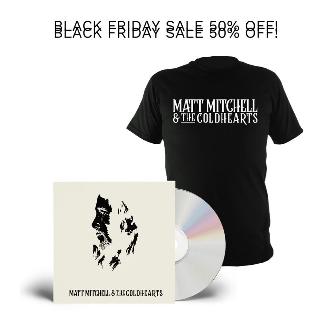 Buy Online Matt Mitchell & The Coldhearts - Matt Mitchell & The Coldhearts (Signed) + Matt Mitchell and the Coldhearts T-Shirt (Inc. Coaster)