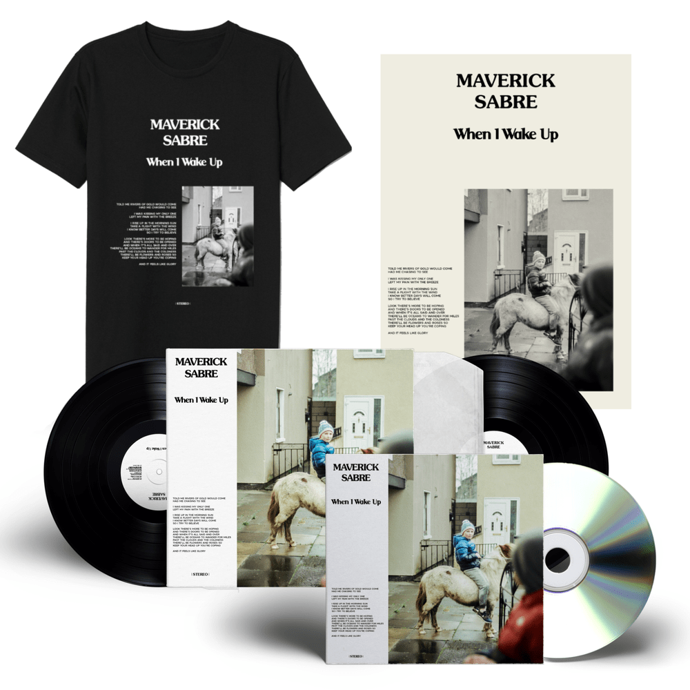 Buy Online Maverick Sabre - When I Wake Up Signed CD + Vinyl + Album T-Shirt + A3 Poster