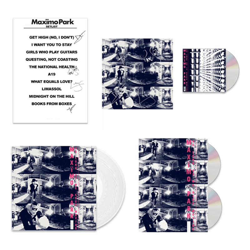 Buy Online Maximo Park - As Long As We Keep Moving - Deluxe CD/DVD Bookpack, White Vinyl & Bonus CD Bundle (Signed)