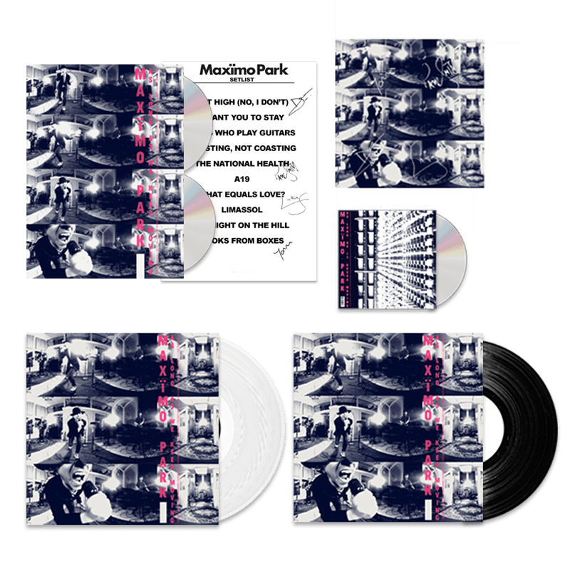 Buy Online Maximo Park - As Long As We Keep Moving - Deluxe CD/DVD Bookpack, White Vinyl, Standard Vinyl & Bonus CD Bundle (Signed)