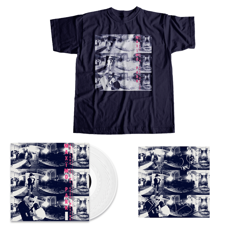 Buy Online Maximo Park - As Long As We Keep Moving - White Vinyl & T-Shirt Bundle (Signed)