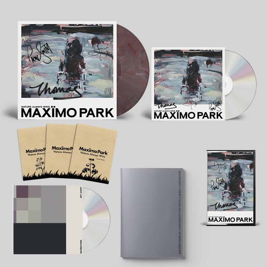 Buy Online Maximo Park - Nature Always Wins CD (Signed) + Coloured Eco Mix Vinyl (Signed) + Cassette (Signed) + Zine + 3 Pack of Seeds