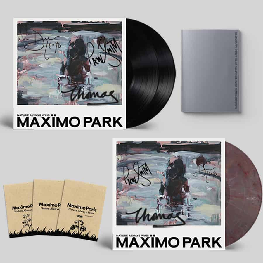 Buy Online Maximo Park - Nature Always Wins Black Double Vinyl (Signed) + Coloured Eco Mix Vinyl (Signed) + Zine + 3 Pack of Seeds
