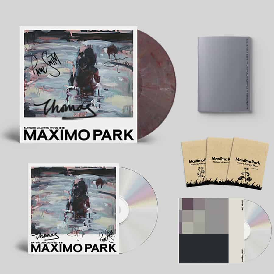 Buy Online Maximo Park - Nature Always Wins CD (Signed) + Coloured Eco Mix Vinyl (Signed) + Zine + 3 Pack of Seeds