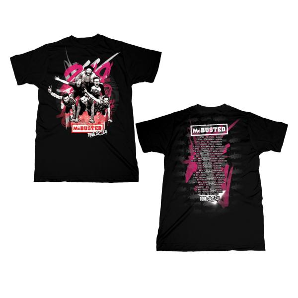 Buy Online McBusted - 2014 Tour Black Unisex T-Shirt