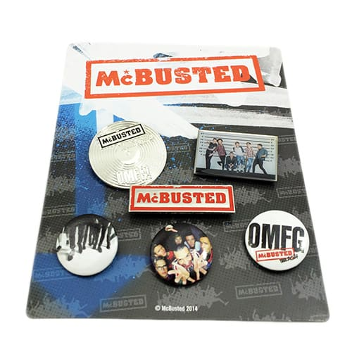 Buy Online McBusted - 2014 Tour Badge Set