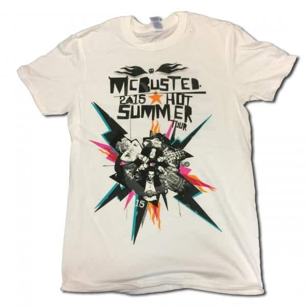 Buy Online McBusted - 2015 White Tour T-Shirt