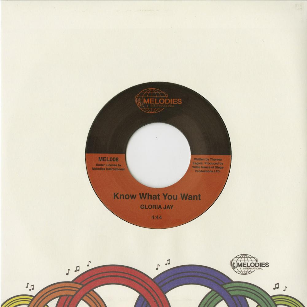 Buy Online Melodies International - Gloria Jay / Know What You Want (w/ 14 x 14 Inch Poster)