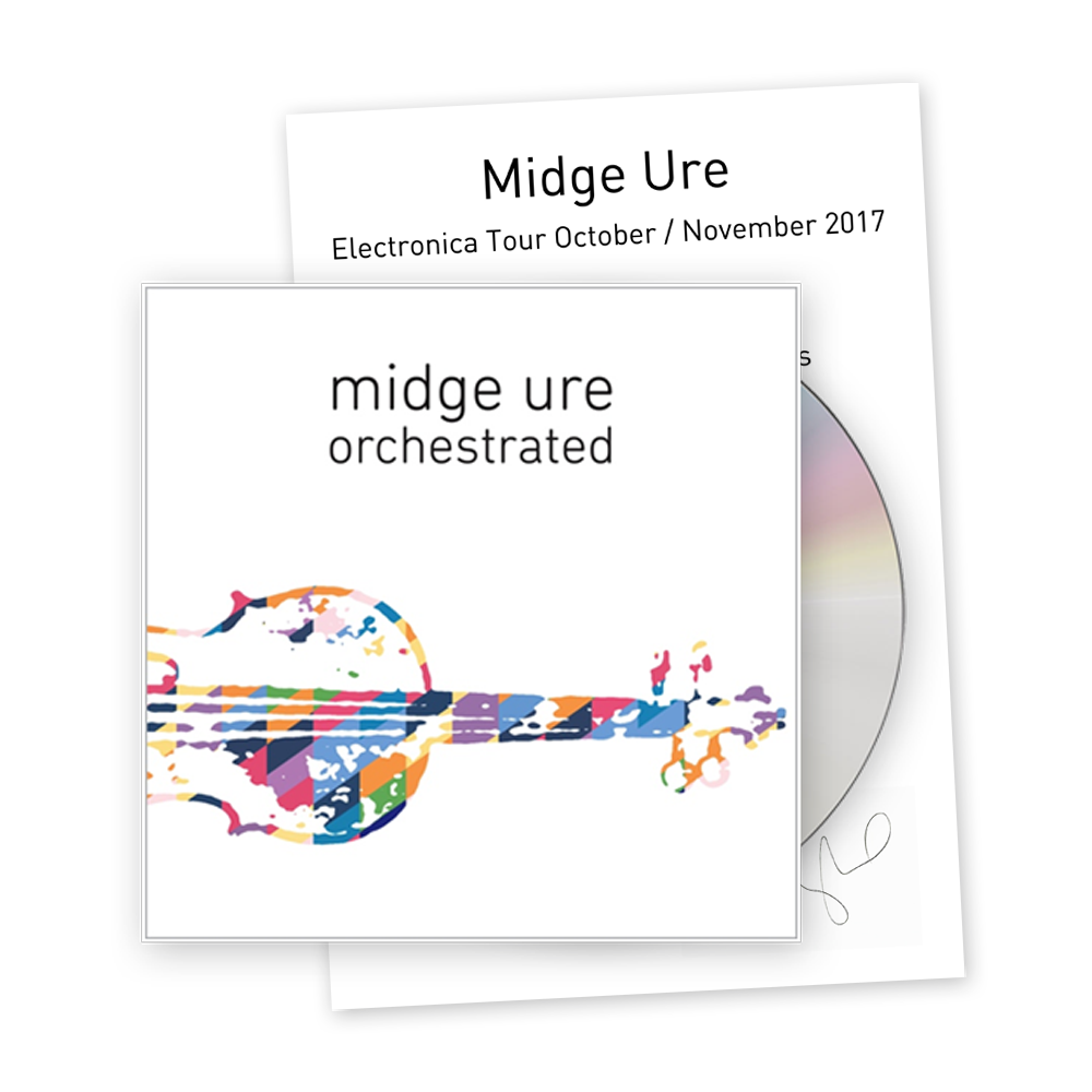 Buy Online Midge Ure - Orchestrated Deluxe Bundle - CD + Signed Set List