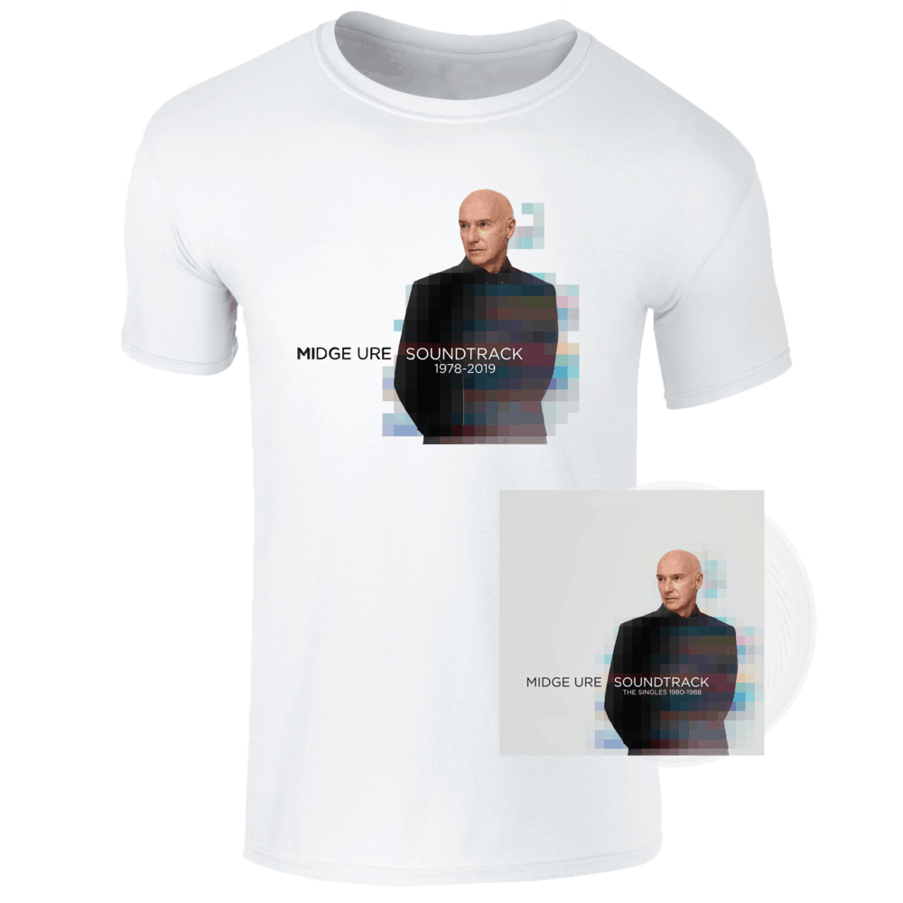 Buy Online Midge Ure - Soundtrack Clear Vinyl + White T-Shirt Bundle