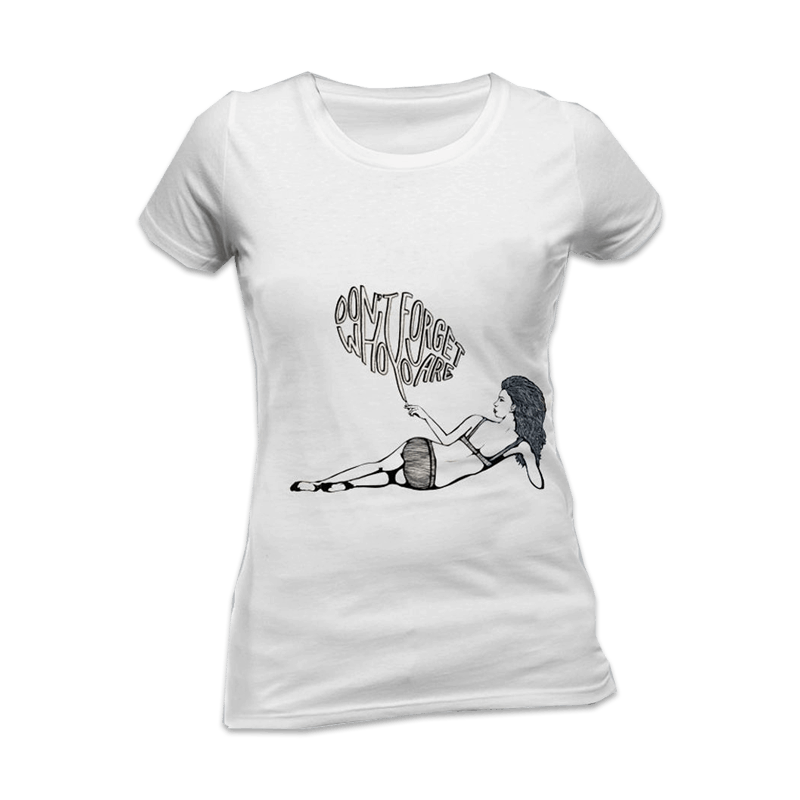 Buy Online Miles Kane - Don't Forget Ladies White Skinny T-Shirt