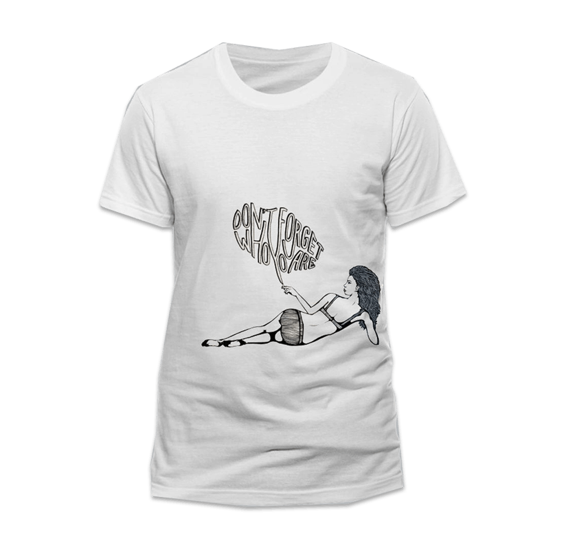 Buy Online Miles Kane - Don't Forget White T-Shirt