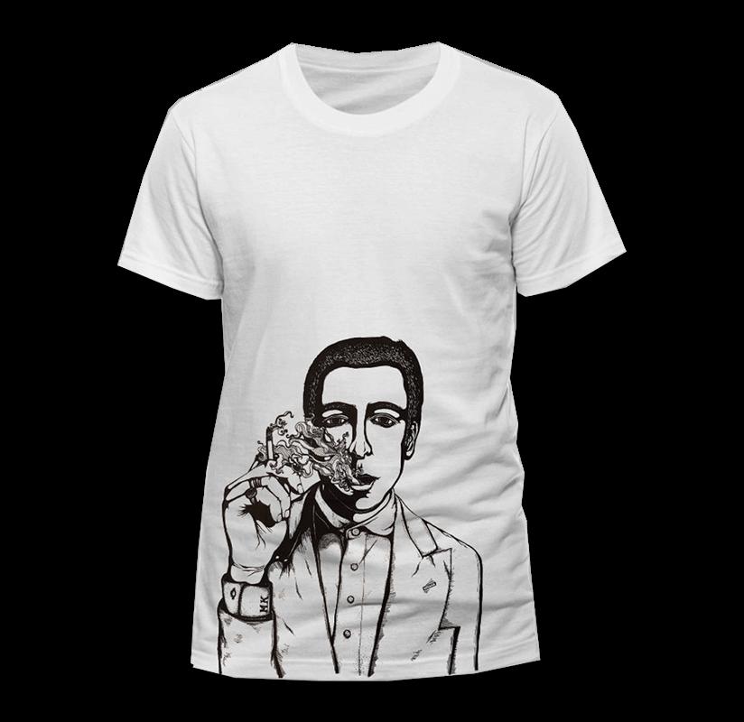 Buy Online Miles Kane - Smoking White T-Shirt