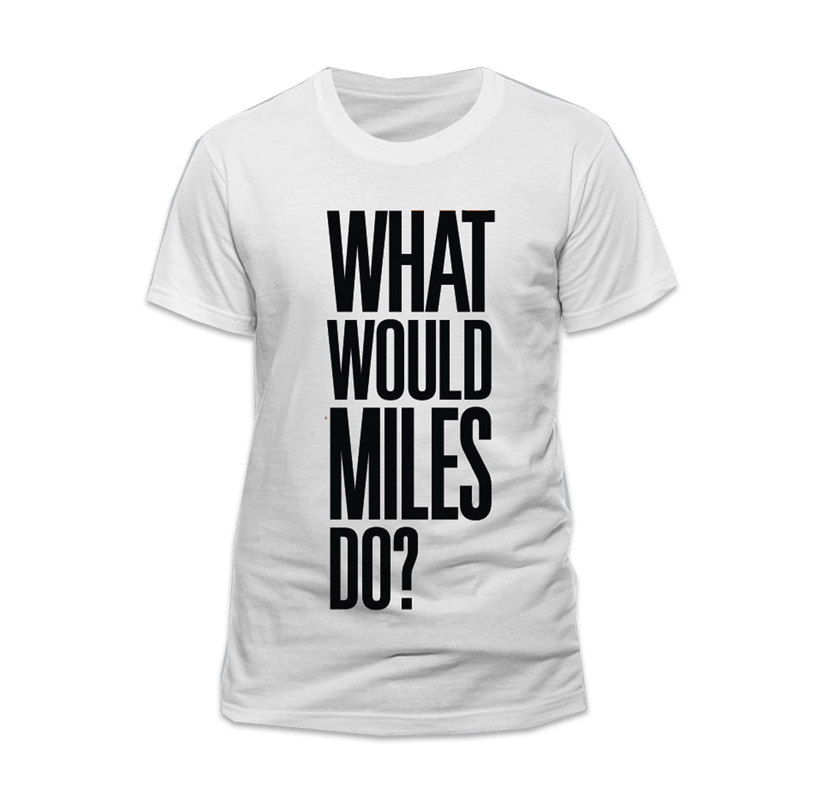 Buy Online Miles Kane - What Would Miles Do? White T-Shirt