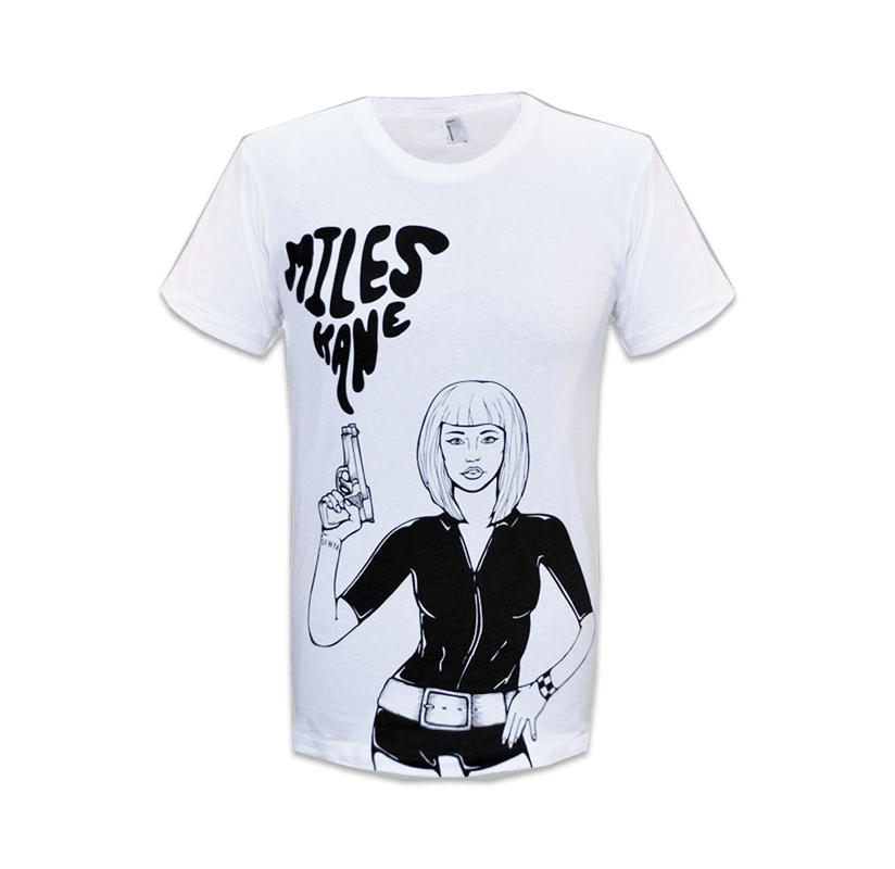 Buy Online Miles Kane - Gun Girl White T-Shirt