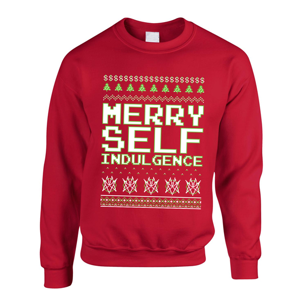Buy Online Mindless Self Indulgence - Merry Self Indulgence Sweatshirt (Red)