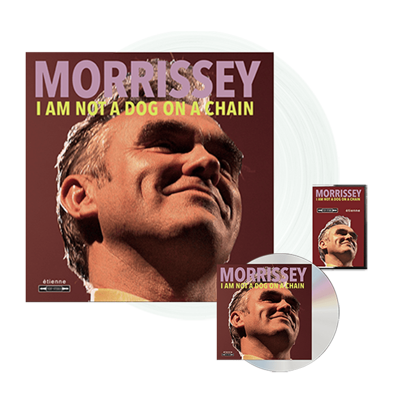 Buy Online Morrissey - I Am Not A Dog On A Chain CD + Clear Vinyl + Cassette