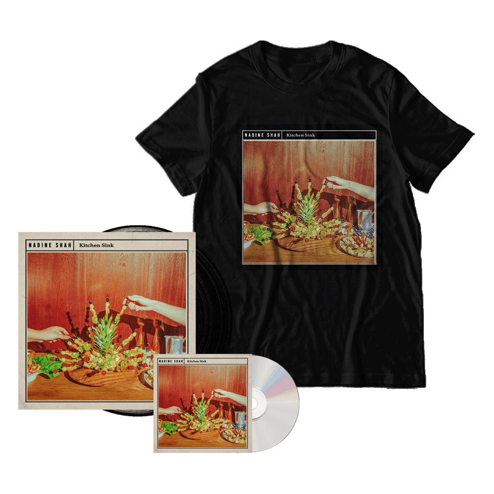 Buy Online Nadine Shah - Kitchen Sink Vinyl + Digipack CD + T-Shirt