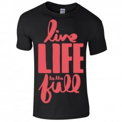 Buy Online Nathan Grisdale - Black Live Life To The Full T-Shirt