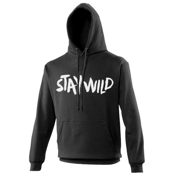 Buy Online Nathan Grisdale - Black Stay Wild Hoodie
