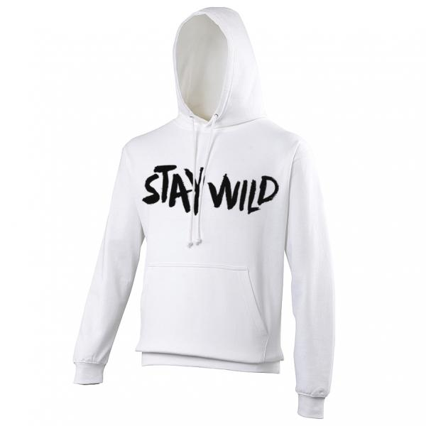 Buy Online Nathan Grisdale - White Stay Wild Hoodie