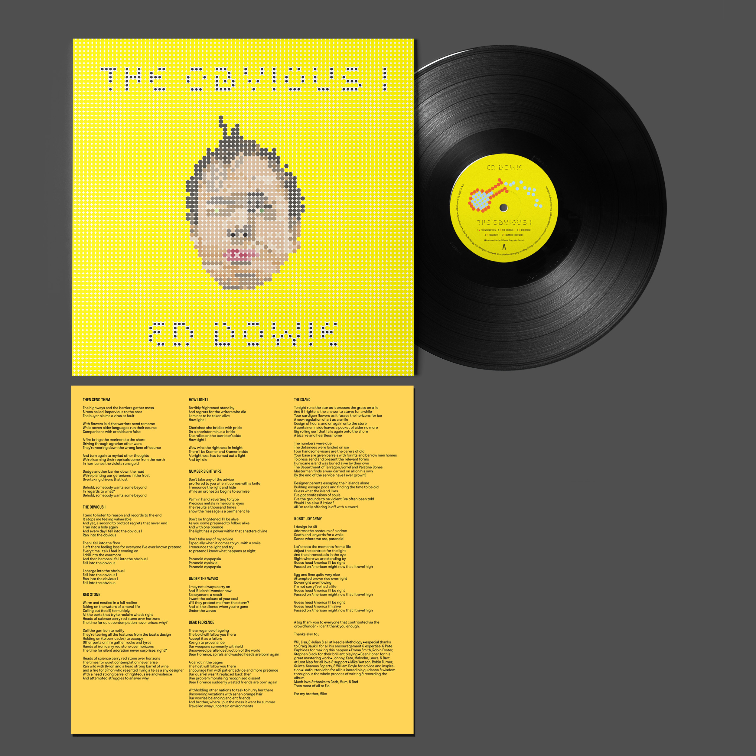 Buy Online Ed Dowie - The Obvious I Heavyweight Black Vinyl + Limited Edition Print