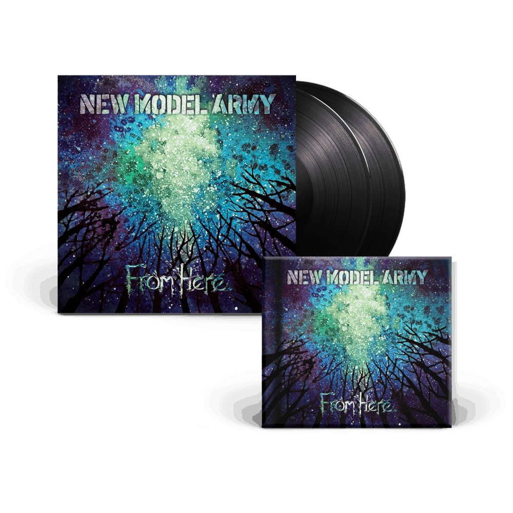Buy Online New Model Army - From Here - Double Heavyweight Gatefold Vinyl + CD Hardcover Media Book