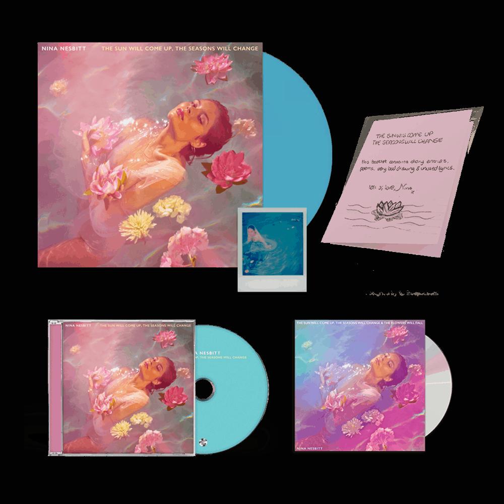 Buy Online Nina Nesbitt - The Sun Will Come Up Blue Vinyl + CD (Signed) + Deluxe CD (Signed)