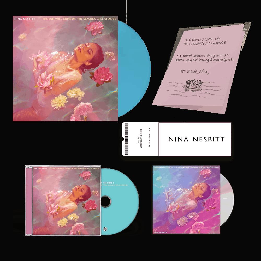 Buy Online Nina Nesbitt - The Sun Will Come Up Blue Vinyl + CD (Signed) + Deluxe CD (Signed) + Ticket