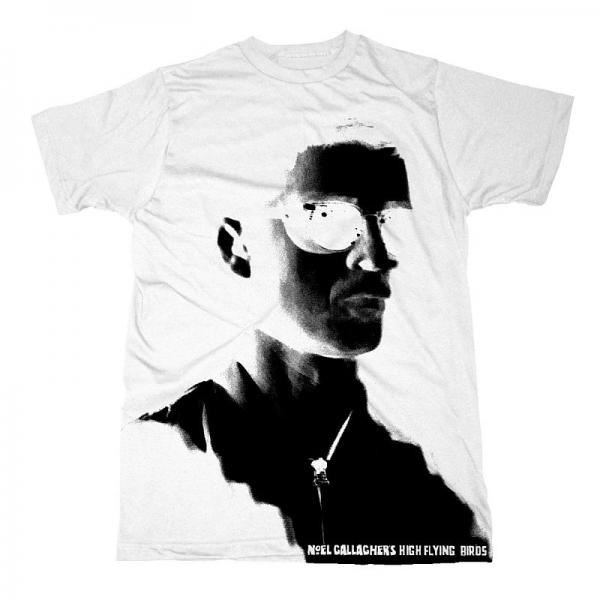 Buy Online Noel Gallagher's High Flying Birds - 2015 White Festival T-Shirt