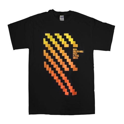 Buy Online Noel Gallagher's High Flying Birds - Black Zig Zag T-Shirt