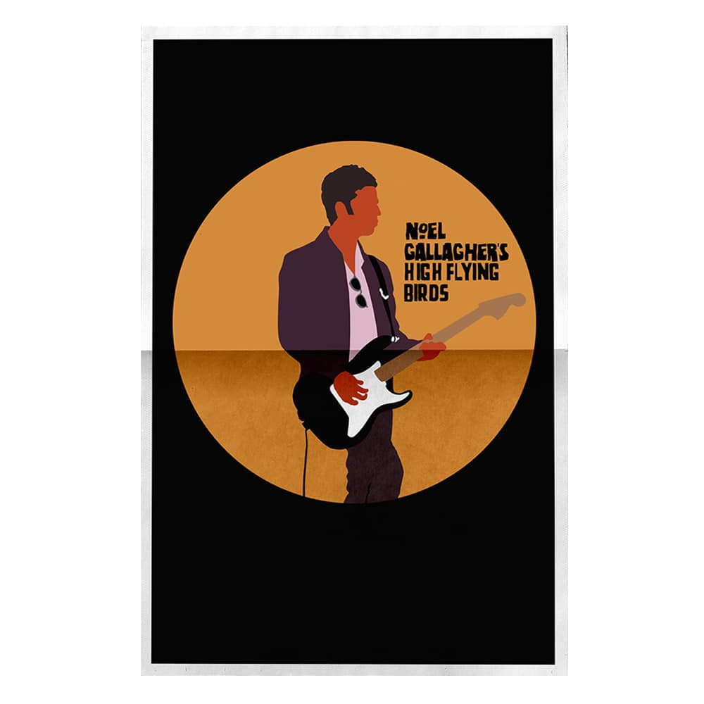 Buy Online Noel Gallagher's High Flying Birds - Noel Guitar Litho (Black)