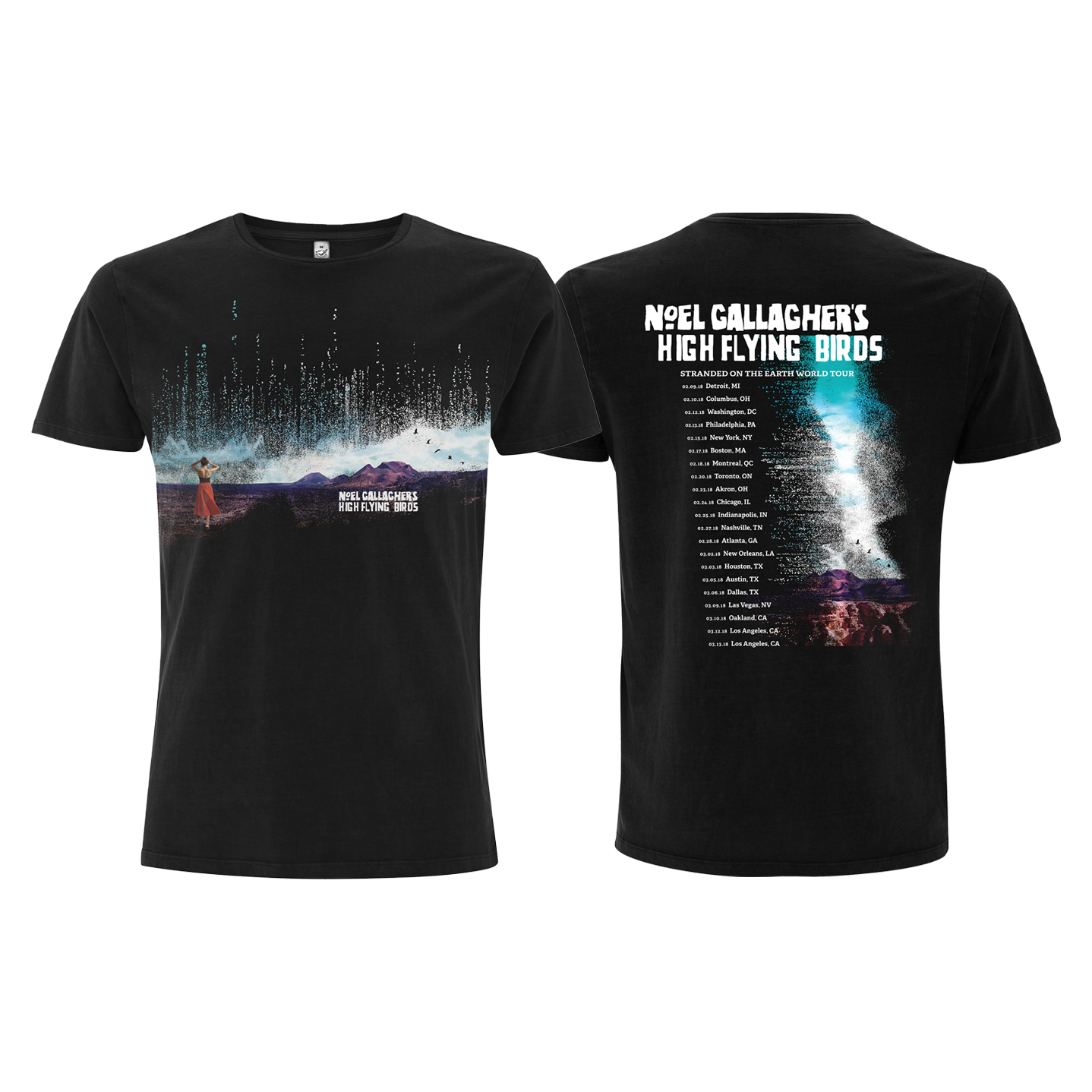 Buy Online Noel Gallagher's High Flying Birds Official Store - The Man Who Built The Moon Tour T-Shirt