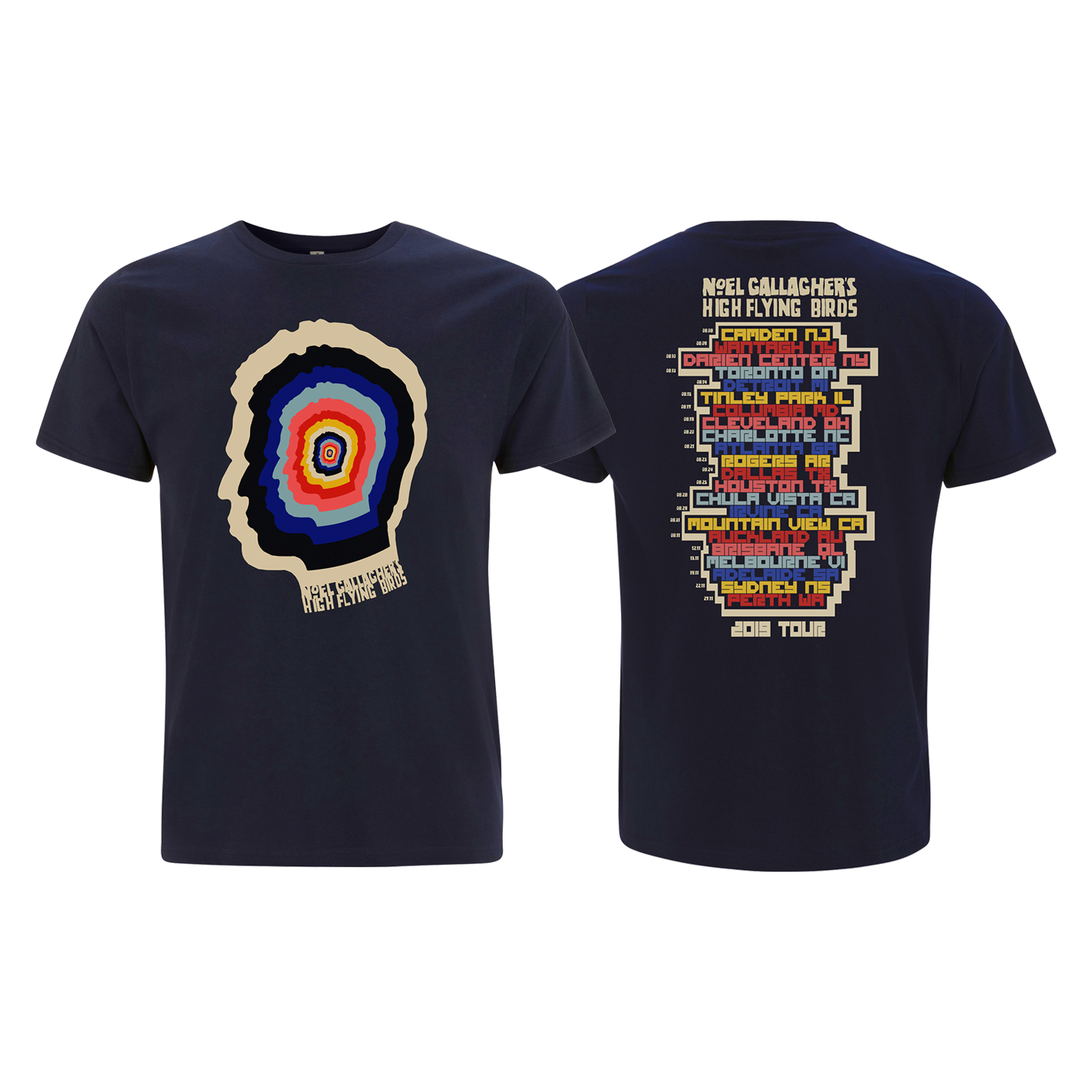 Buy Online Noel Gallagher's High Flying Birds Official Store - Kaleidoscope 2019 Tour T-Shirt