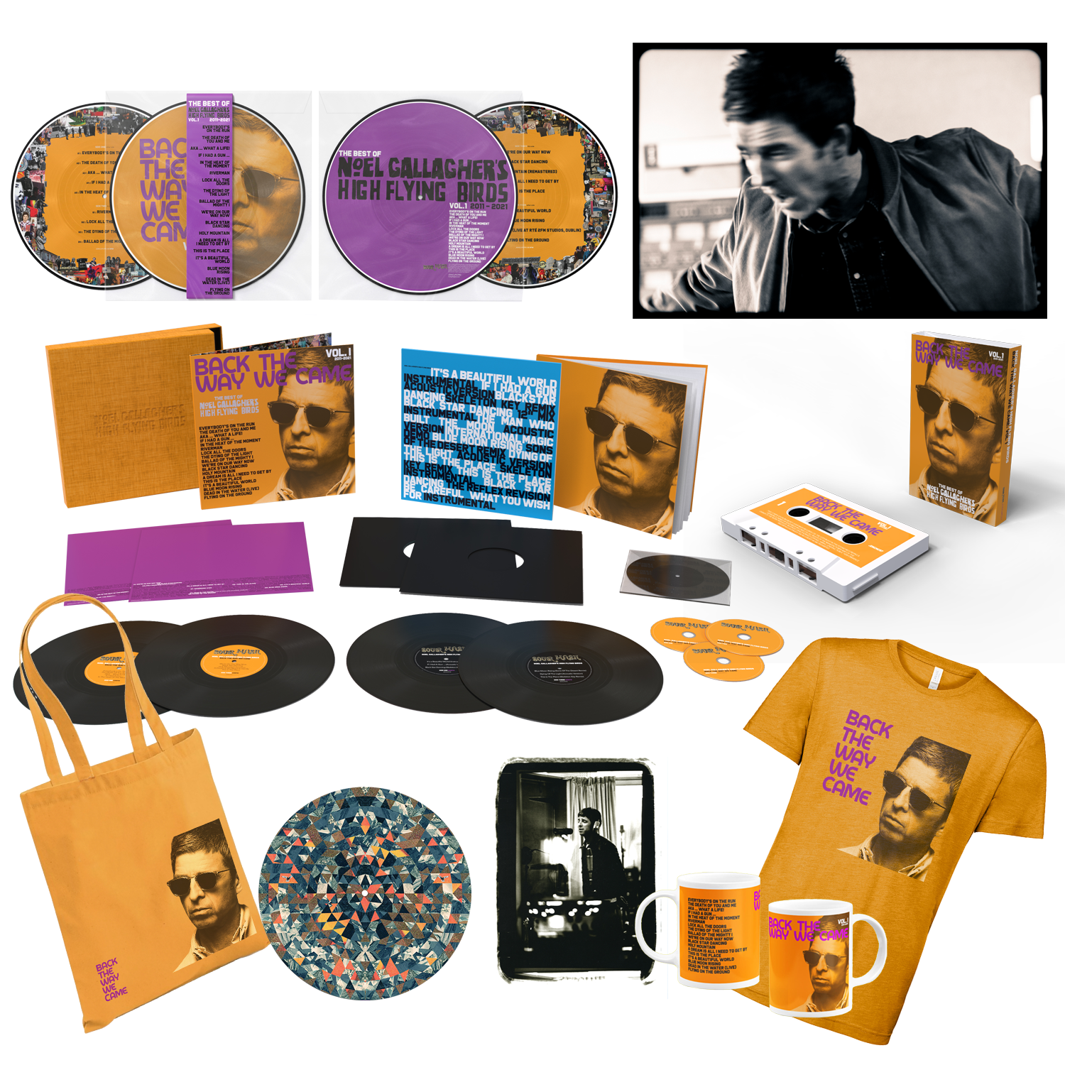 Back The Way We Came: Vol 1 (2011 - 2021) Super Deluxe Bundle + A4 Print (Exclusive) on Noel Gallagher's High Flying Birds Official Store Official Online Store