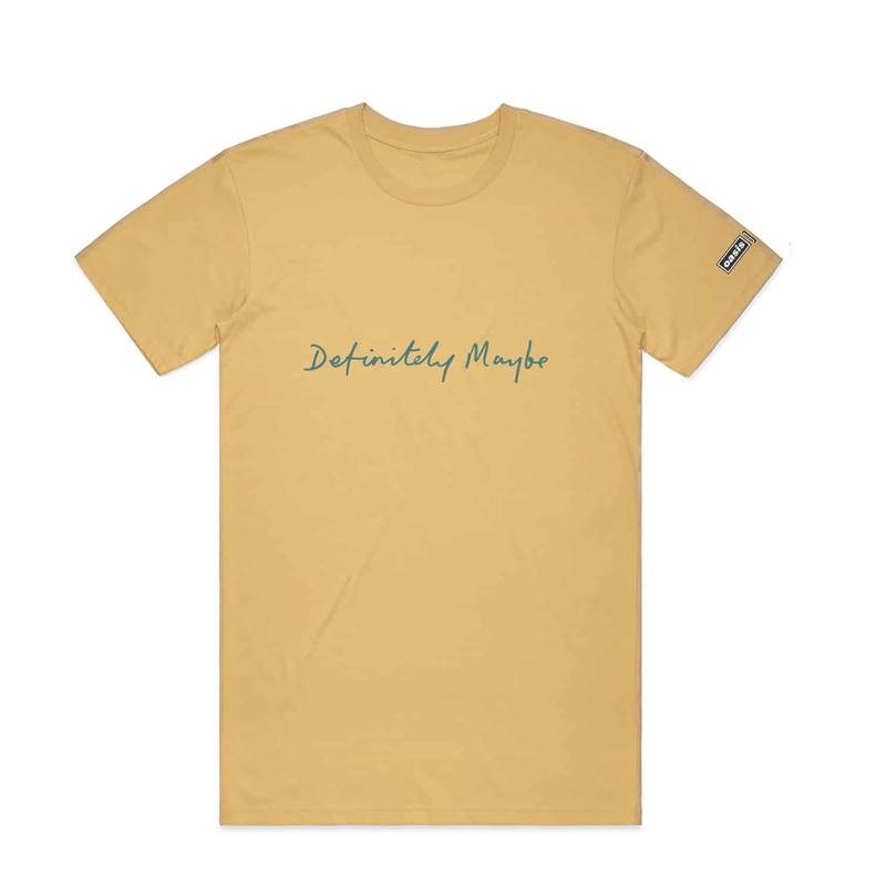 Buy Online Oasis - Definitely Maybe Yellow T-Shirt